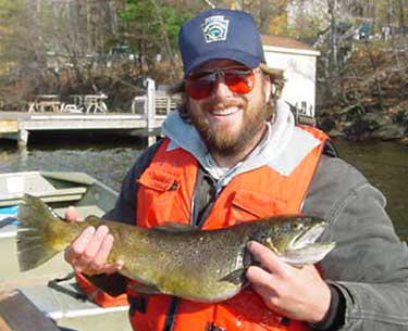 2005 biologist report harveys lake for Pa fish records