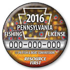 2016 Fishing License Button
