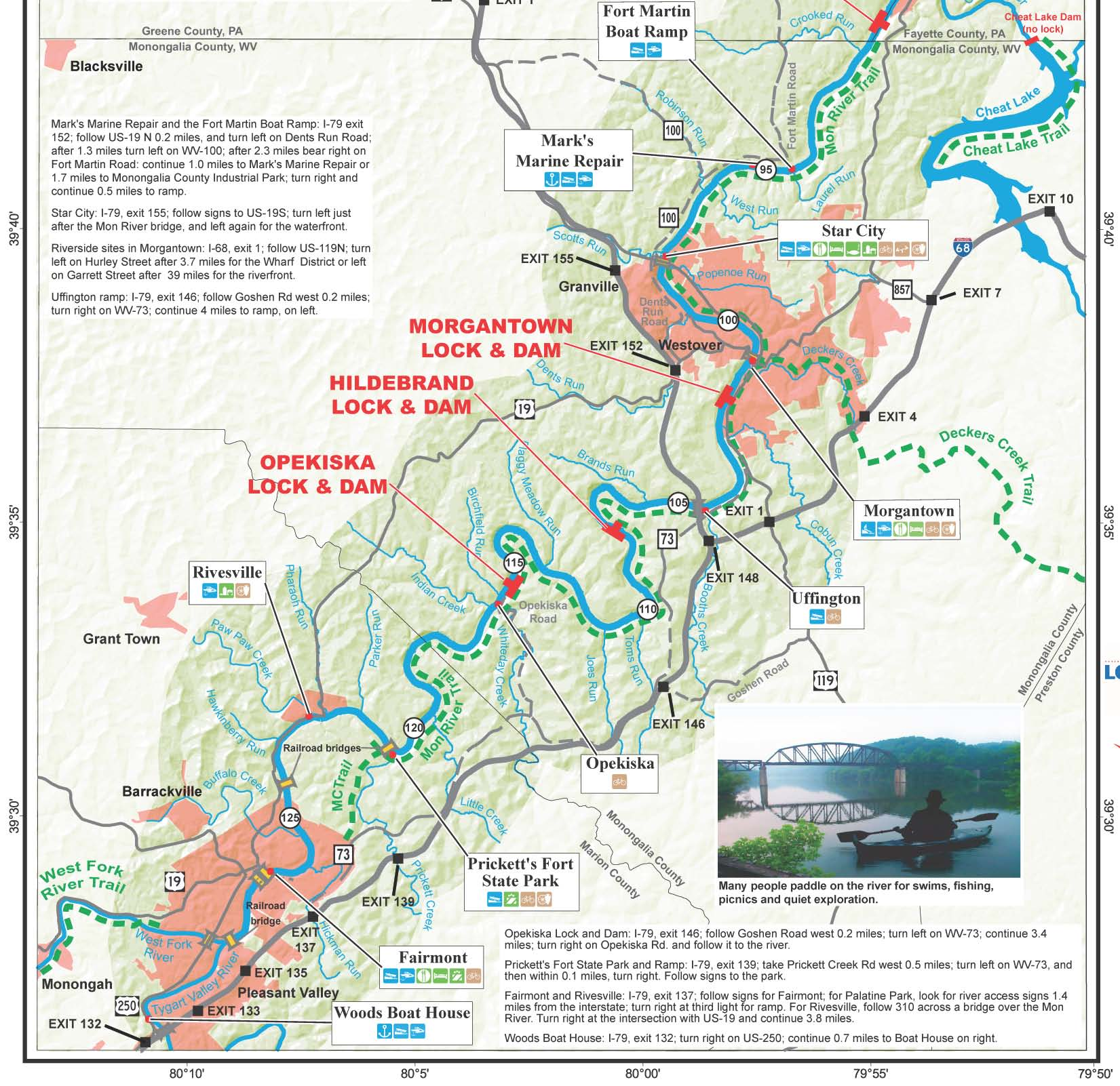 Pennsylvania Water Trail Guides And Maps - West virginia rivers map